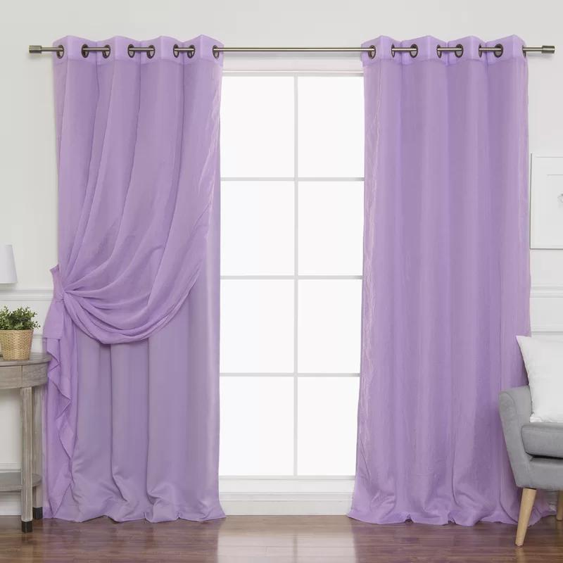 Stubbs Solid Sheer Thermal Grommet Curtain Panels Grommet
