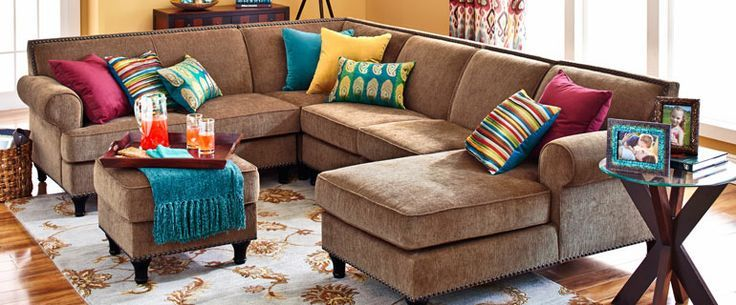 Donttoo reliant on pillows Carmen Sectional SofasPier 1