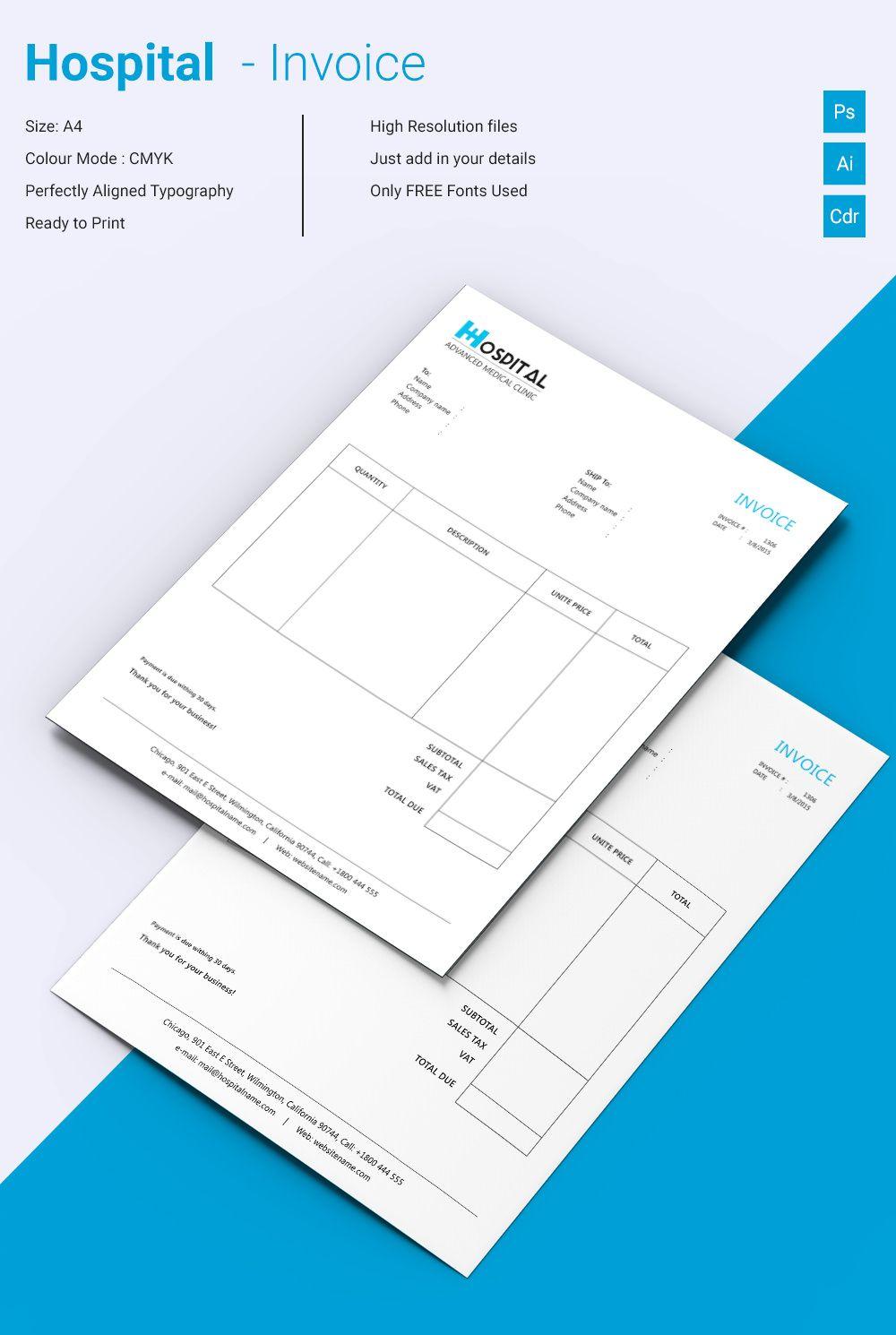 Beautiful Hospital Invoice Template Invoice Template For Mac - Invoice template for mac