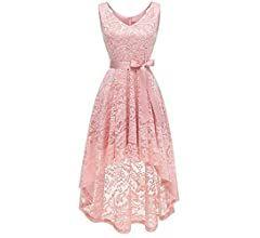 mayogo vintage elegant kleid aus spitze damen unregelmässig vokuhila kleid vorne kurz hinten