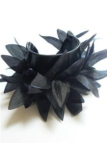 girlie cuff with feather trim