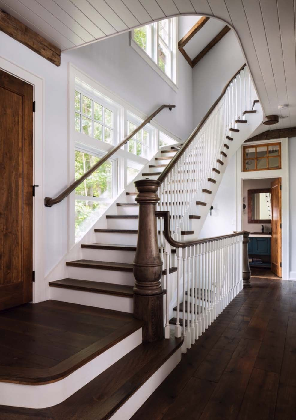 Stairs... Via Farmhouse Touches U2014 (via A Gorgeous Farmhouse Style Home On