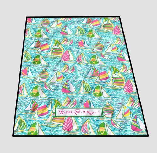 Lilly pulitzer Summer Surfing Blanket cheap and best quality. *100% money back guarantee