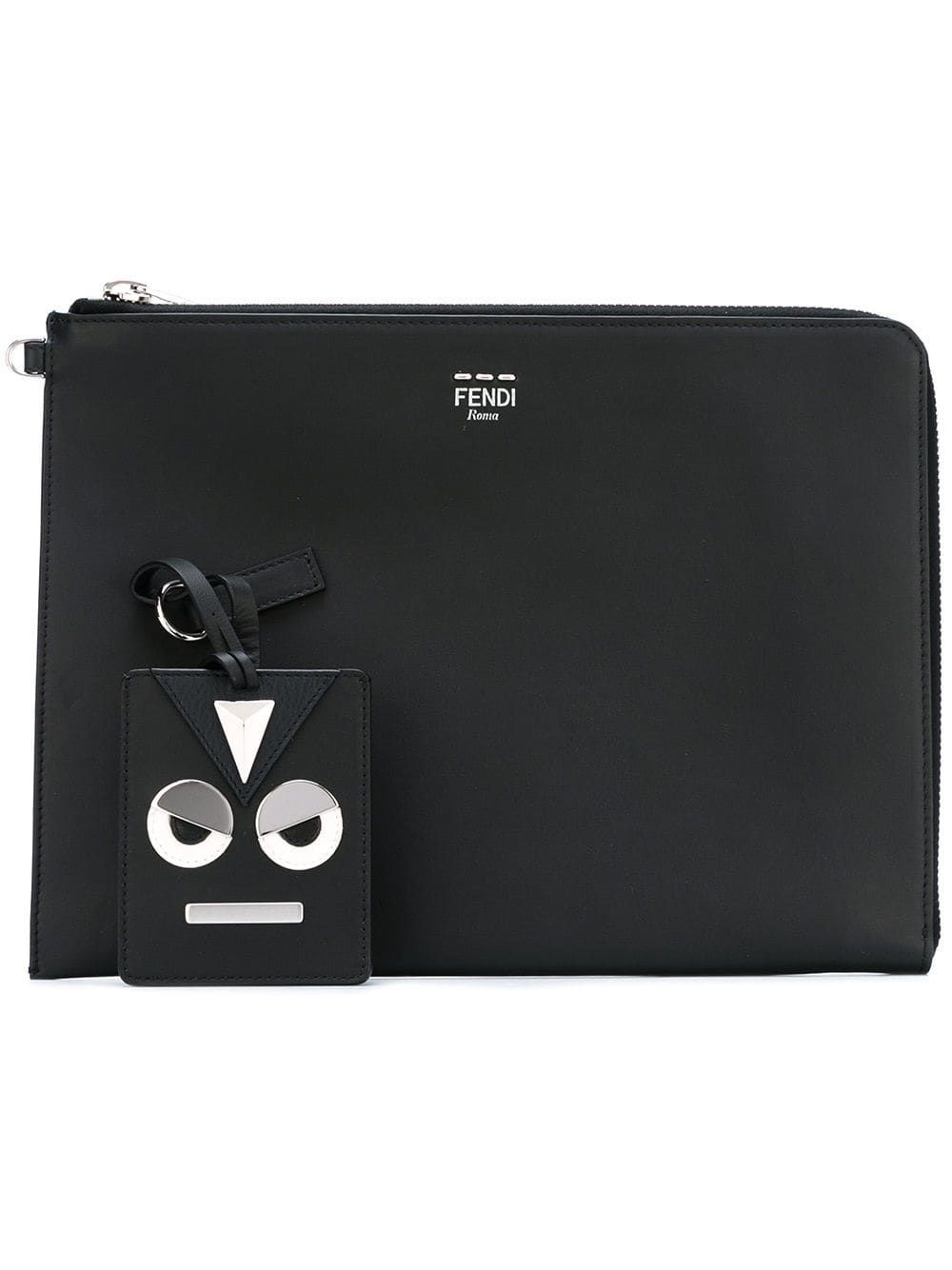 218726f0 FENDI FENDI ZIP FASTENING LAPTOP CASE - BLACK. #fendi #bags #leather ...