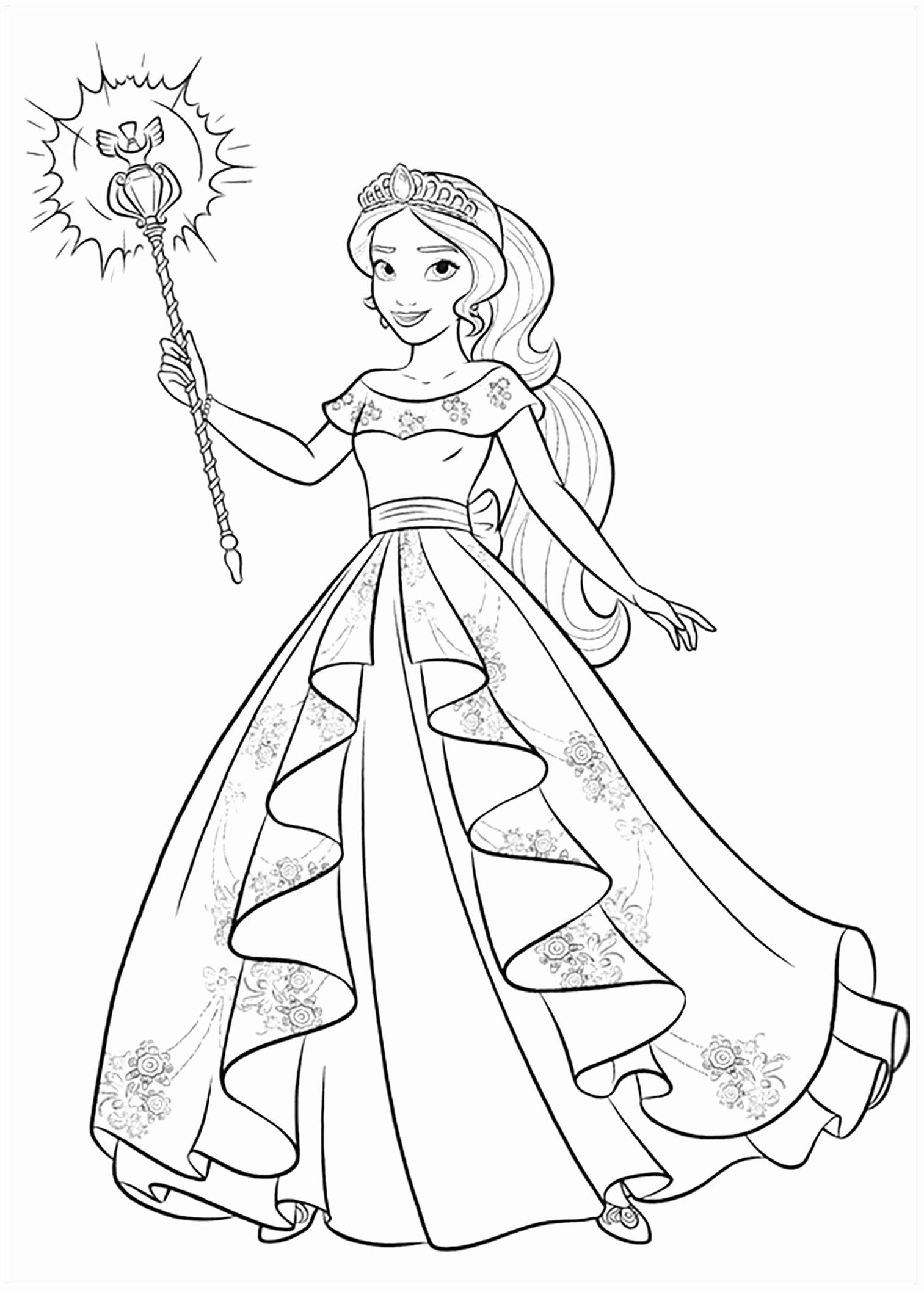 Elena Of Avalor Coloring Page Lovely Coloriage Princesse Elena D