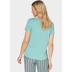 Tom Tailor Damen T-Shirt mit Ananas-Print, grün, unifarben mit Print, Gr.xxl Tom TailorTom Tailor
