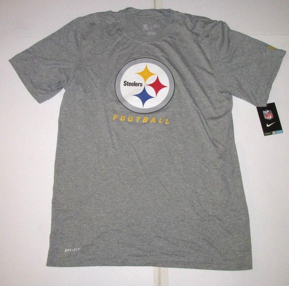 Nike Pittsburgh Steelers Dri-FIT Football Shirt Mens M Grey  Nike   PittsburghSteelers b047393ee