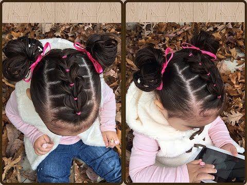 Trenza Pull Through con ligas y coletitas para niñas Peinados