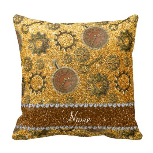 Steampunk Throw Pillows for Indoors or