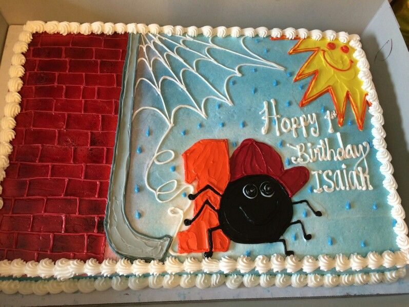 Itsy Bitsy Spider Theme Birthday Cake We Had Made For His First Bday