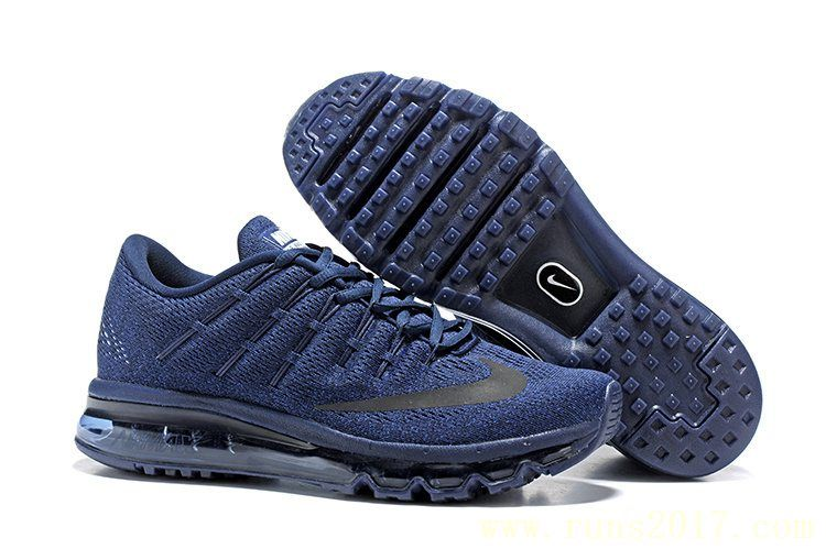 new product bfbd5 de883 Nike Air Max 2016 Men Mesh Dark Blue
