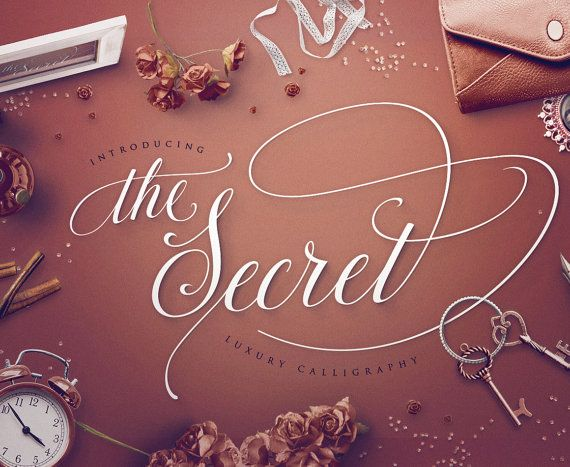 Script font the secret luxury calligraphy by blessedprint on etsy