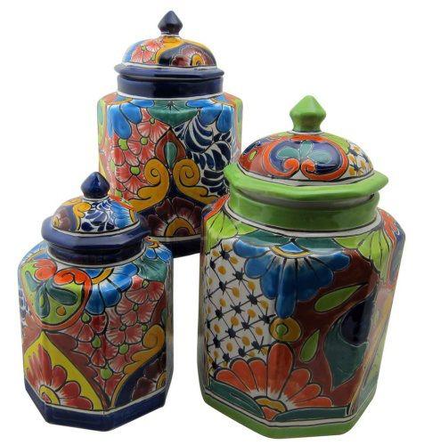Talavera Cookie Jar Set From Mexico Talavera Talavera Pottery