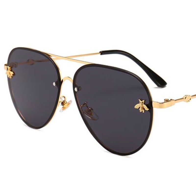 Bee Pilot Sunglasses Vintage Glasses Shades For Women Men