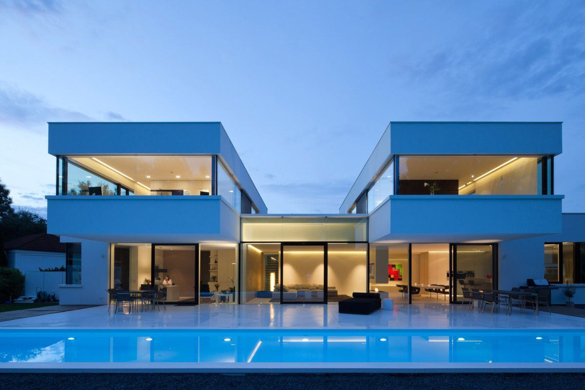 2015 swimming pool houses ideas with pool hi macs house by karl dreer and bembe - Nice Houses With Swimming Pools