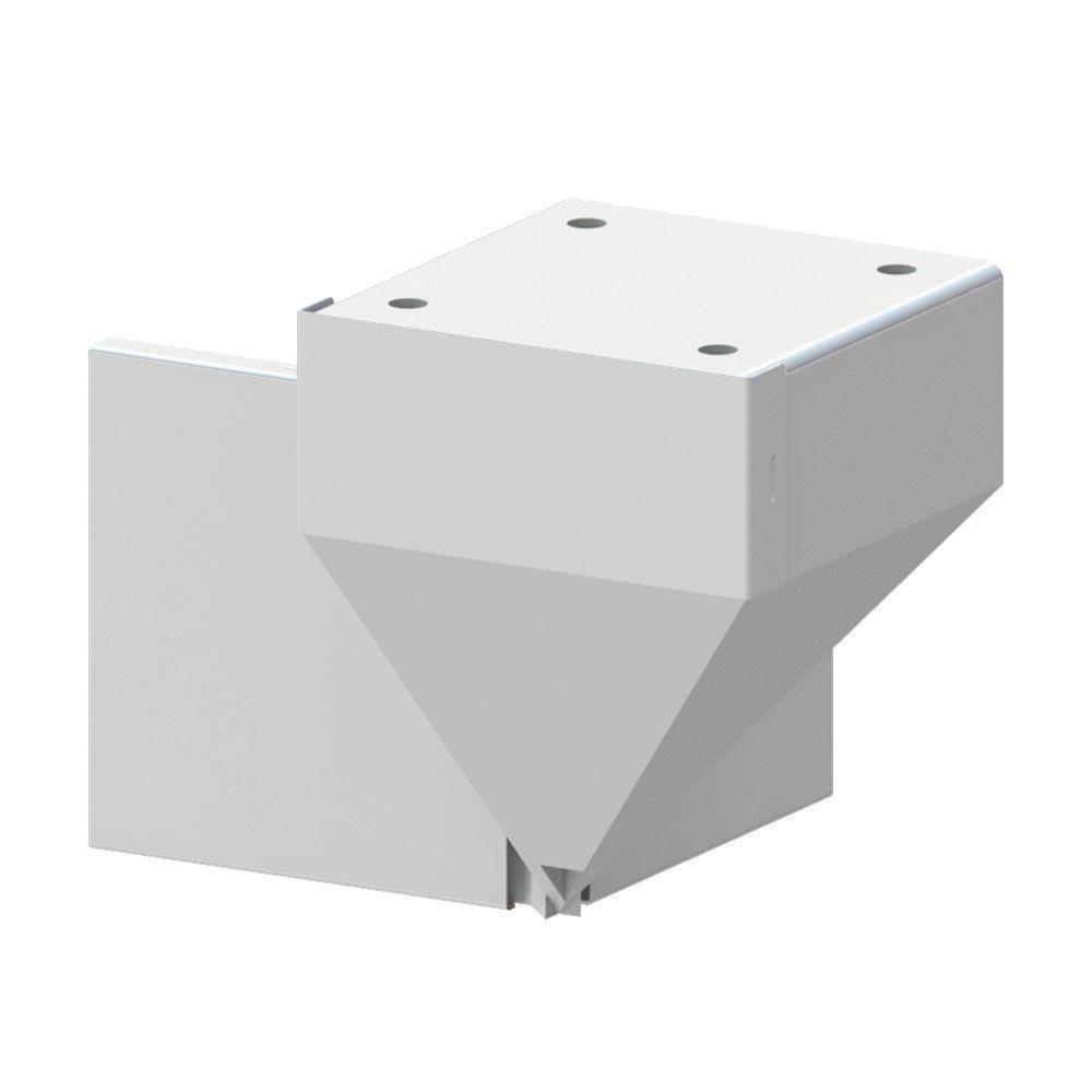 Best Peak Aluminum Railing White Corner Fascia Mount Bracket 400 x 300