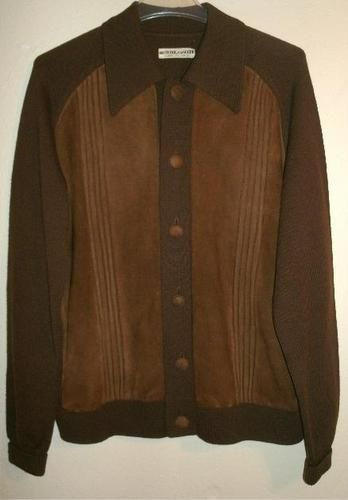 "Mens Vintage 60s Chocolate Brown Itallian Wool Suede Jacket Italy M L 46"" Chest | eBay"