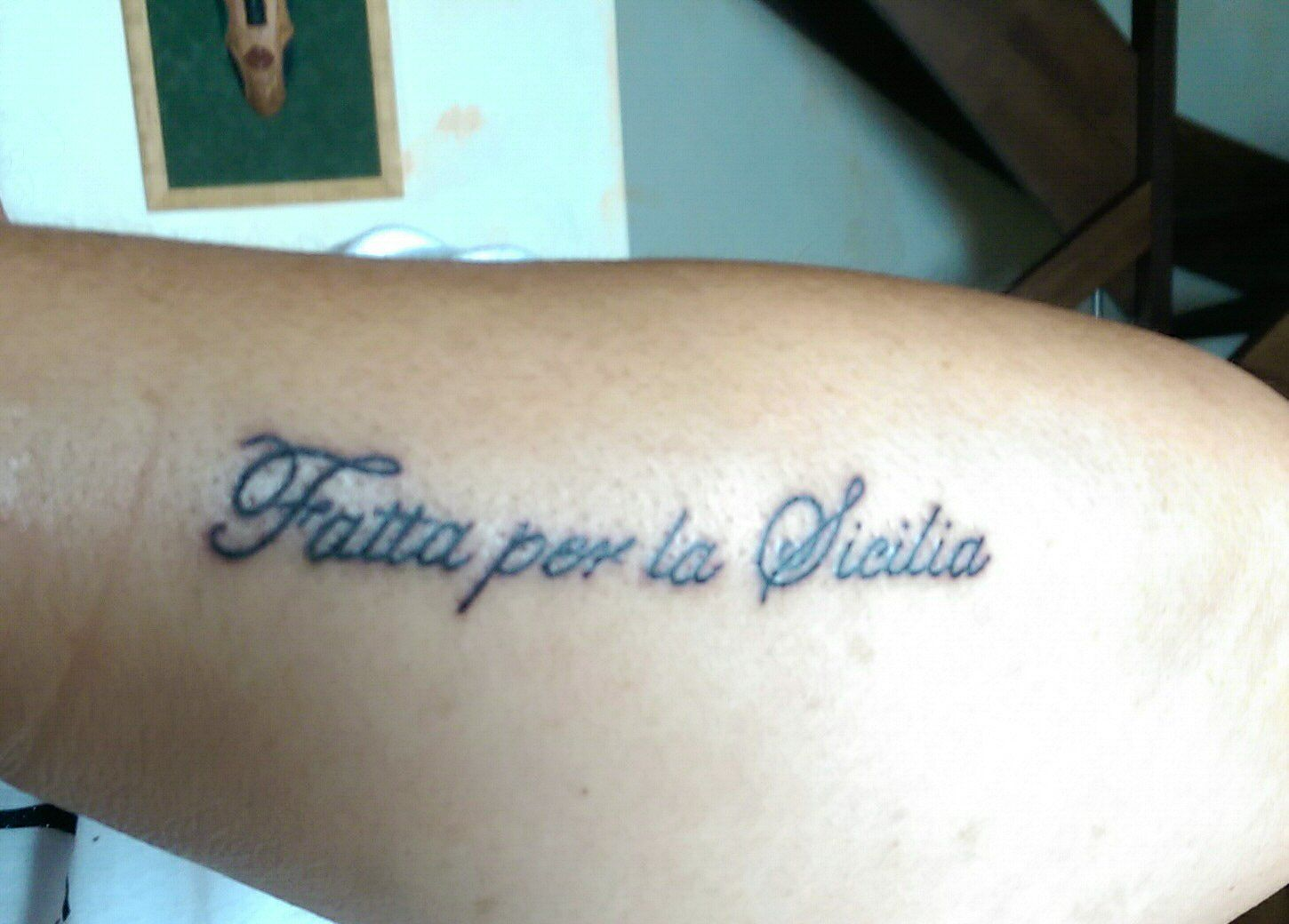 My sicilian tattoo it means made in sicily my dad was from there my sicilian tattoo it means made in sicily my dad was from there buycottarizona