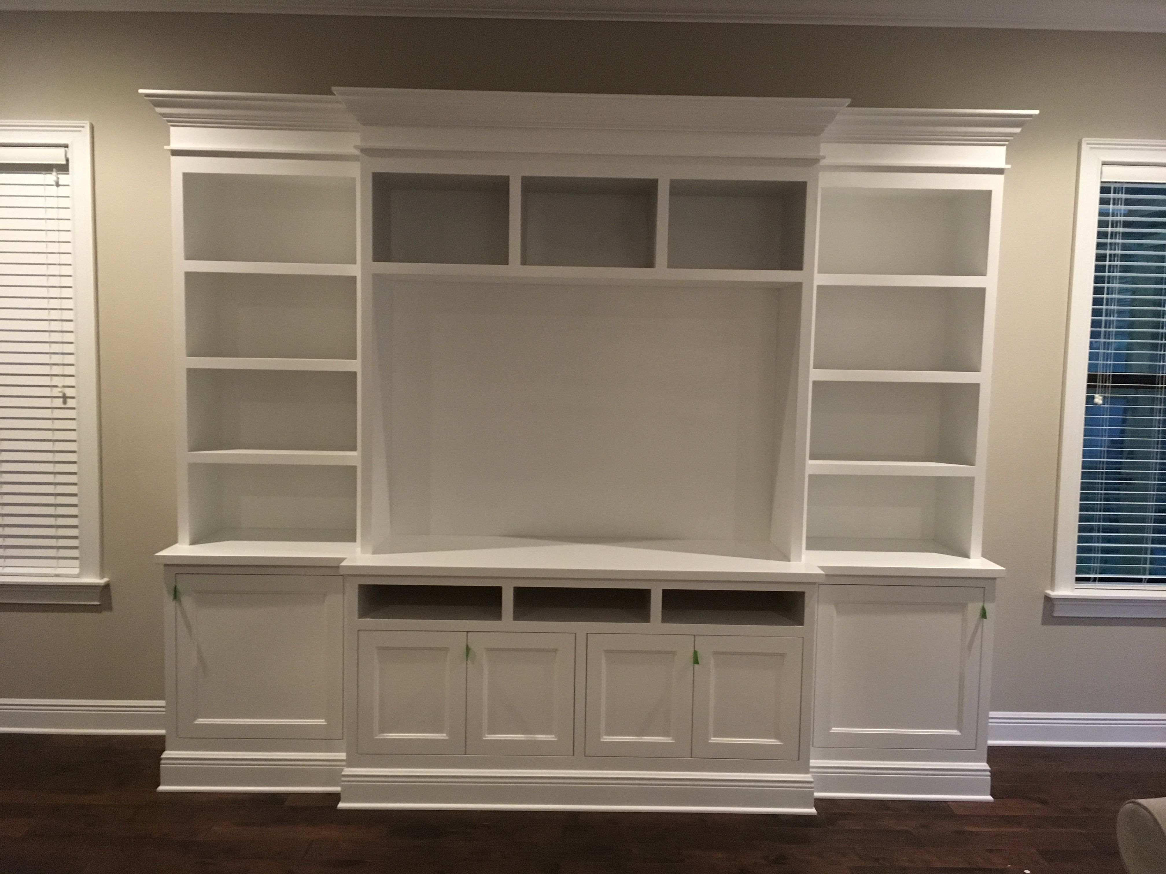 Pin By Clare Guzzetti On Custom Built In Entertainment Cabinet Tv In Bedroom Entertainment Wall Units