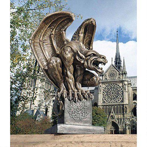 Amazon.com : Design Toscano Abbadon Gargoyle Statue : Outdoor Statues :  Patio, Lawn