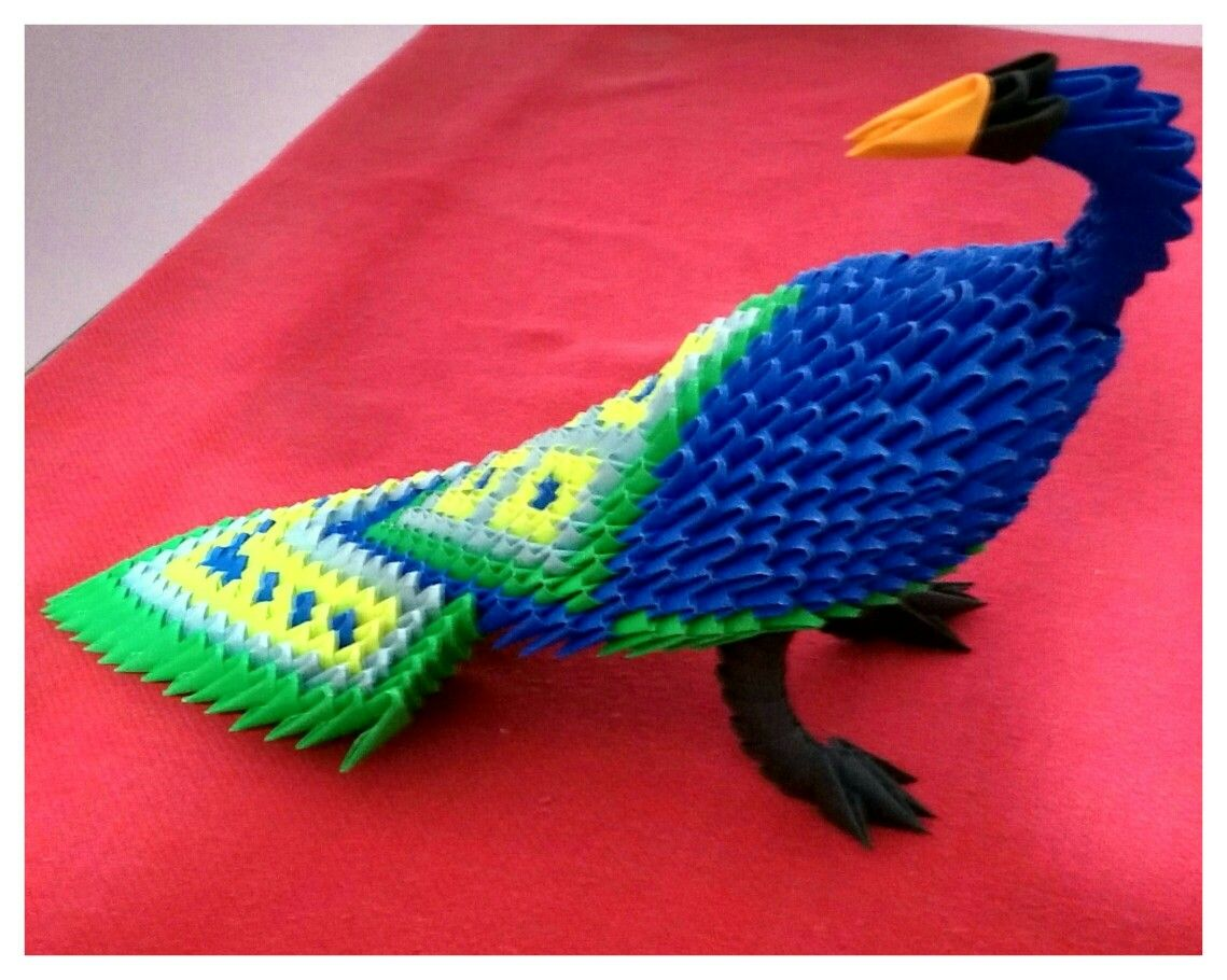 3D Origami peacock - Origami | Pinterest - photo#16