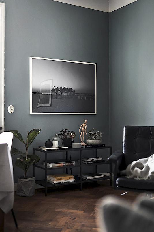 Piso n rdico de 44 m en gris oscuro decoraci n de for Comedores oscuros