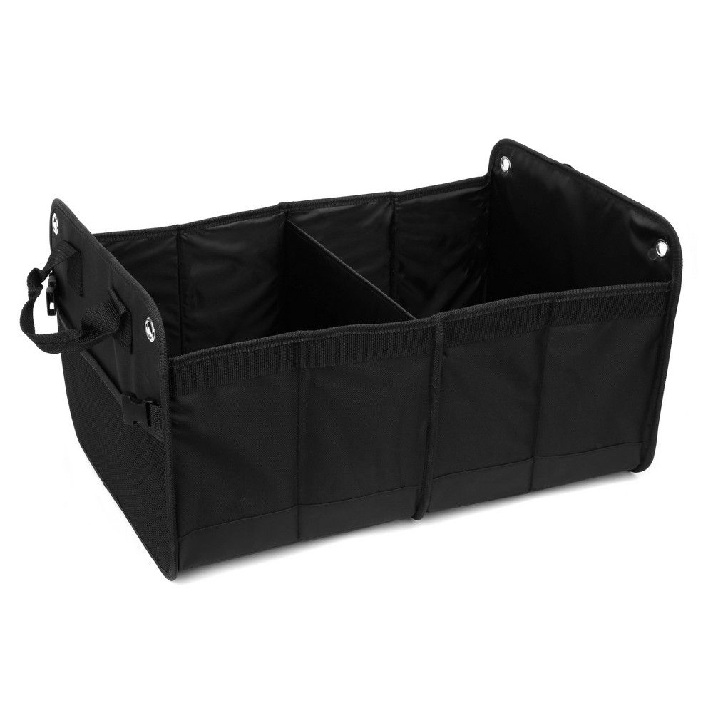 15 X12 2 Section Heavy Duty Trunk Organizer Black Turtle Wax