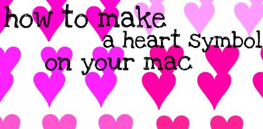 How To Make A Heart Symbol On Facebook Using Your Mac Cool