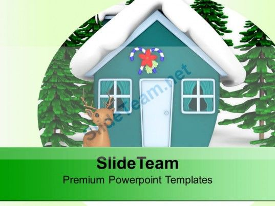 Christmas Theme And Winter Background Powerpoint Templates Ppt