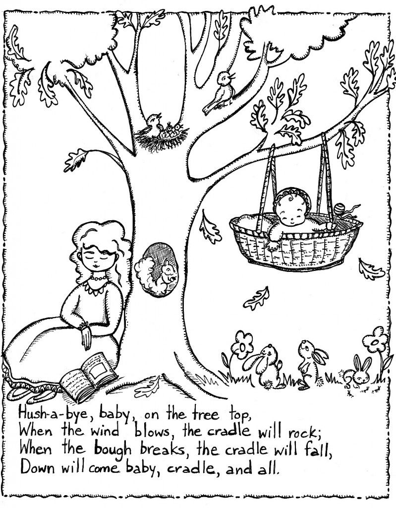 Free Nursery Rhymes Coloring Pages Print | coloring fun | Pinterest ...