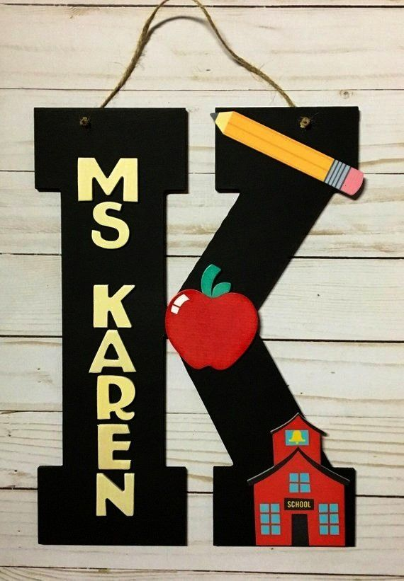 to School Gifts - Classroom Decor -Teacher Gifts -  Classroom Door Hangers - Teacher App... Back to