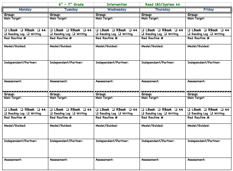 System  Weekly Lesson Plans  Have To Be A Little Ocd Just To