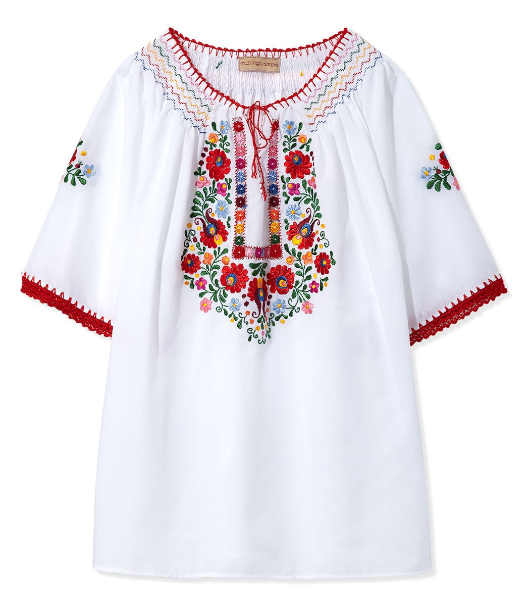 Mexican Style Embroidered Blouses Anlis