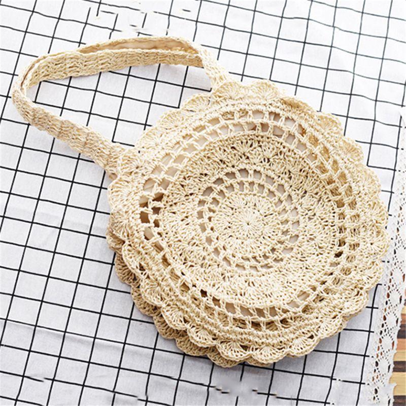 LAANCOO Rotonda vano portaoggetti Rattan Tessuti a Mano Cesto di Vimini con Manico Frutta 22x7cm Pane visualizzazione Colazione Cibo