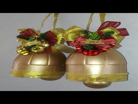 Como hacer botas de navidad con botellas de plastico tutorial manualidades adornos navide os diy - Adornos navidenos diy ...
