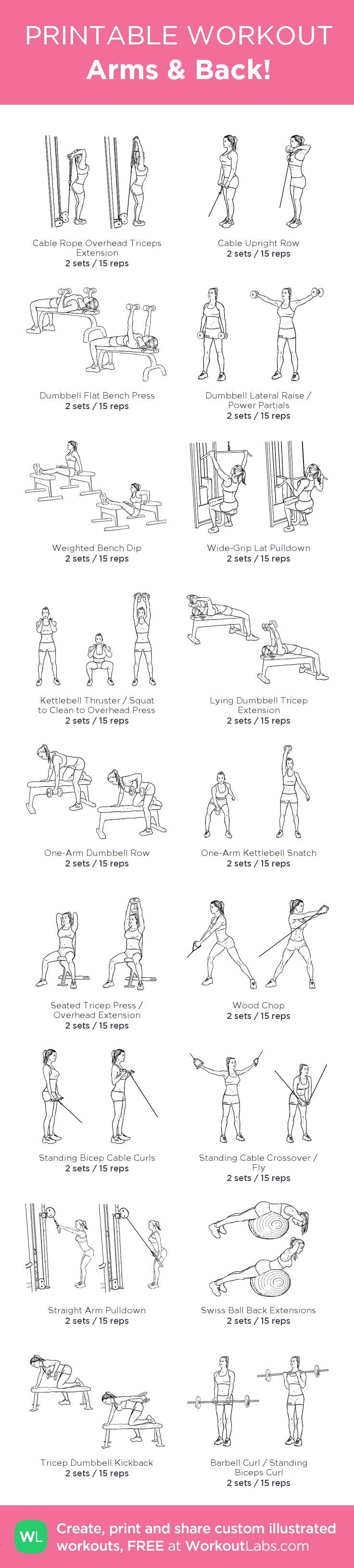 Arms & Back – my custom workout created at
