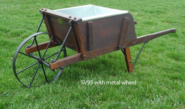 Old Fashioned Reproduction Wooden Wheelbarrows Wooden Wheelbarrow Antique Planter Wheelbarrow
