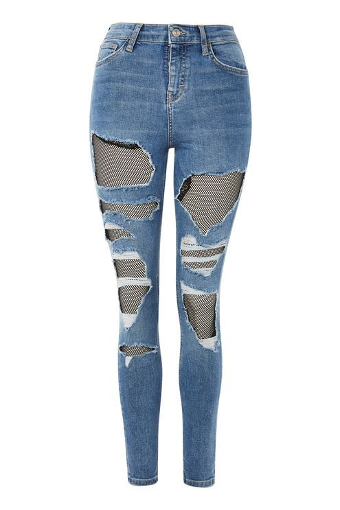 MOTO Fishnet Jamie Jeans