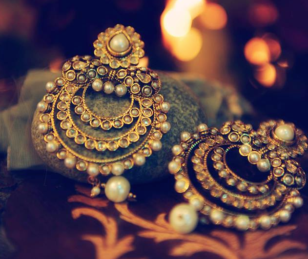 Chandbali Indian Wedding Bridal Earrings