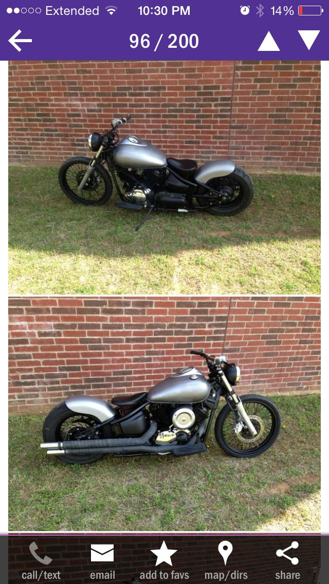 Custom Yamaha V Star 1100 I Found On Craigslist V Star Bobber Yamaha V Star Cool Cars