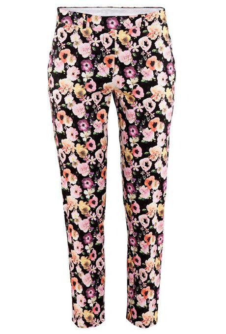 Floral Slim Side Pockets Pant