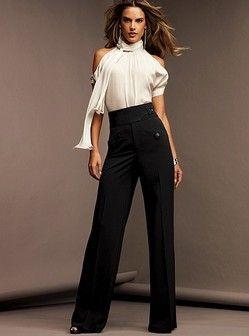 Black crepe dress slacks