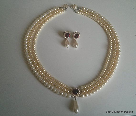 94d589673672d Bridal Accessories, Necklace for the shoulders, Bridal Chandelier ...