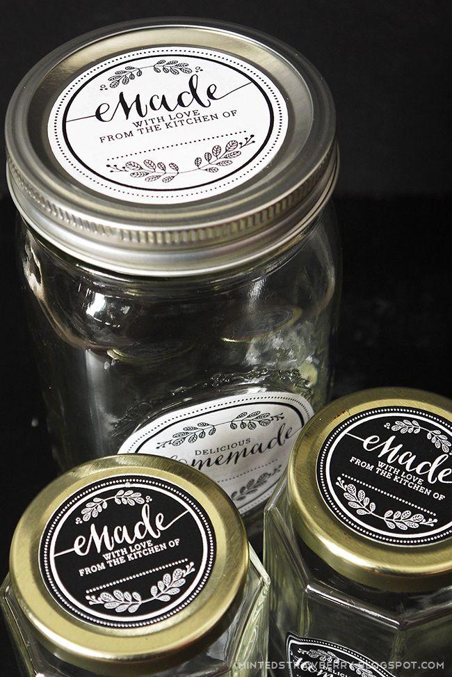 Free Printable Homemade Mason Jar Labels