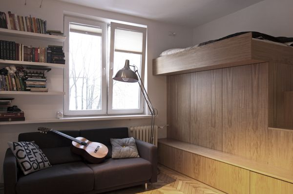 Small Bachelor Apartment With A Very Practical Design 22 Square