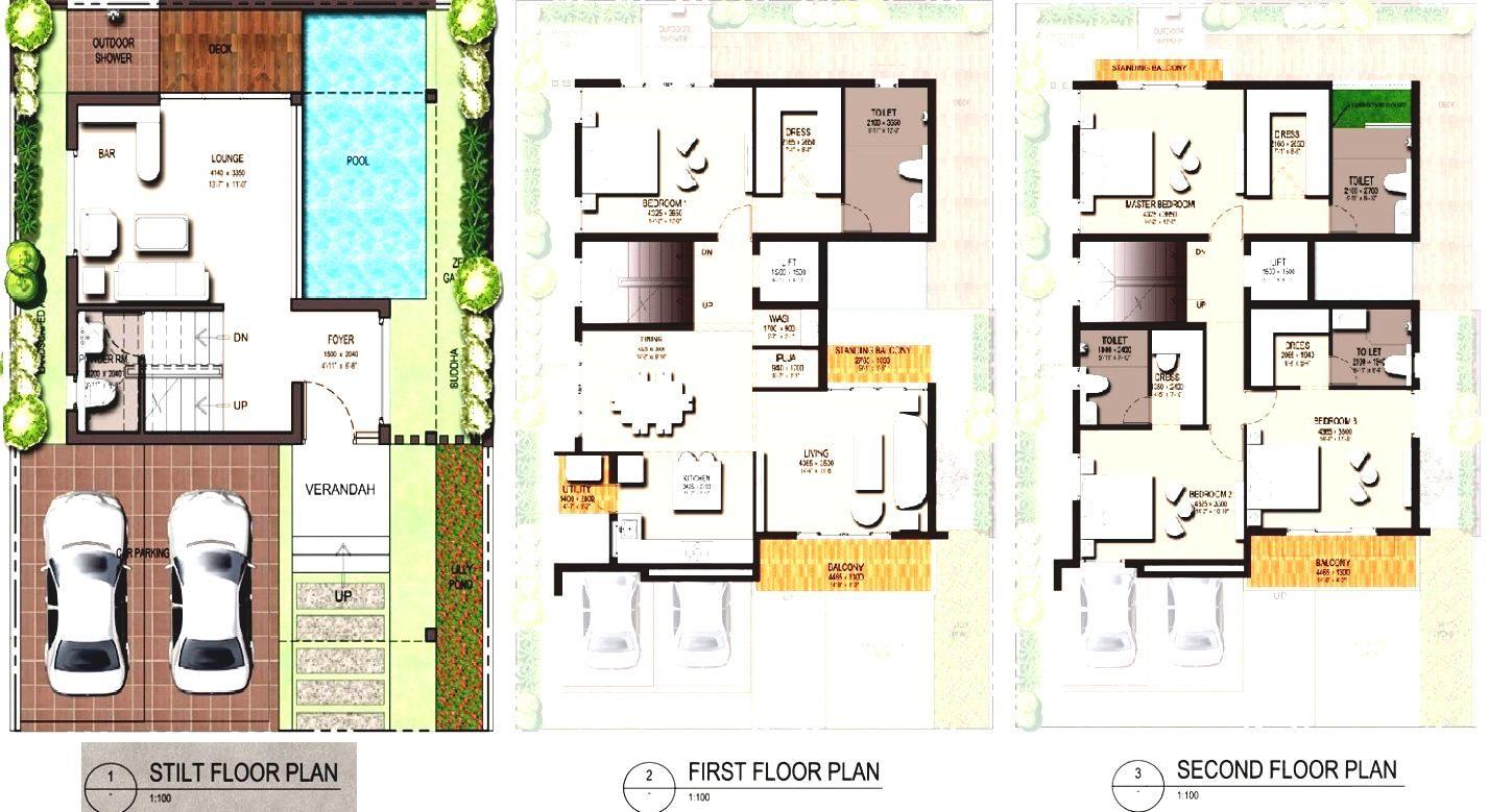 Modern Small House Floor Plan Gallery With Zen Plans Images Designs Desain Rumah Kontemporer Denah Lantai Rumah Denah Lantai