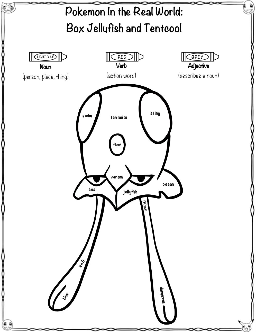 Pokemon Close Read And Worksheets Activities Box Jellyfish And Tentacool Worksheets For Kids Fun Worksheets For Kids Kids Fun Learning [ 1291 x 996 Pixel ]