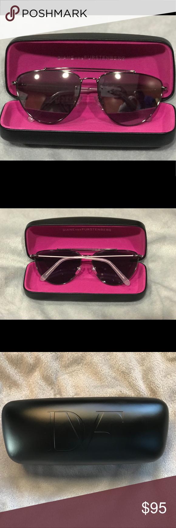 753306d0adc19 Diane Von Furstenberg Krista Aviator Sunglasses DVF122S - Chic and modern  lightweight aviator sunglass with silver