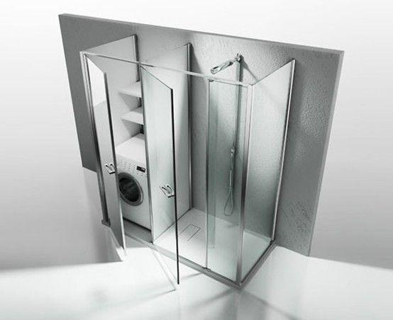 Bagno piccolo con lavatrice box doccia con vano for Arredare bagno piccolo con lavatrice