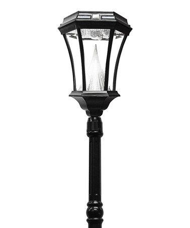This Black Solar LED Victorian Lantern Post is perfect! #zulilyfinds